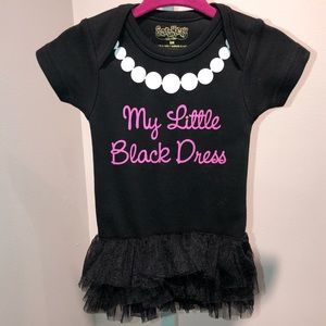 My Little Black Dress baby onesie